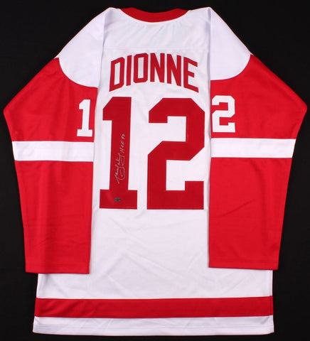 "Marcel Dionne Signed Red Wings Jersey Inscribed ""HOF 92"" (Leaf) 700 Goal Scorer"