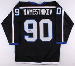 Vladislav Namestnikov Signed Black Lightning Jersey (JSA) 2011 1st Rd Draft Pick