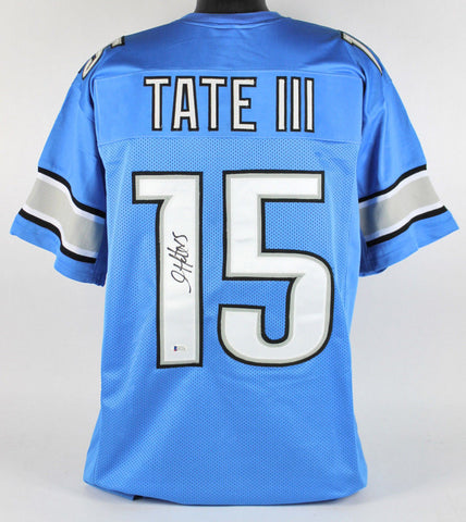 Golden Tate Signed Detroit Lions Blue Jersey (Beckett) Notre Dame Wide Receiver
