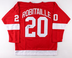 Luc Robitaille Signed Red Wings Jersey (PSA) 668 NHL Goals / 2002 Stanley Cup