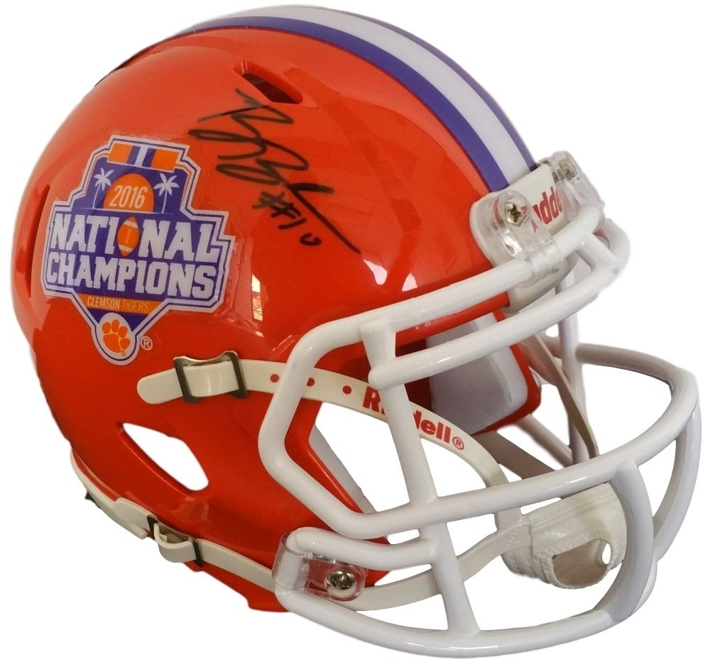 Ben Boulware Signed Clemson Tigers 2016 National Champions Mini Speed Helmet