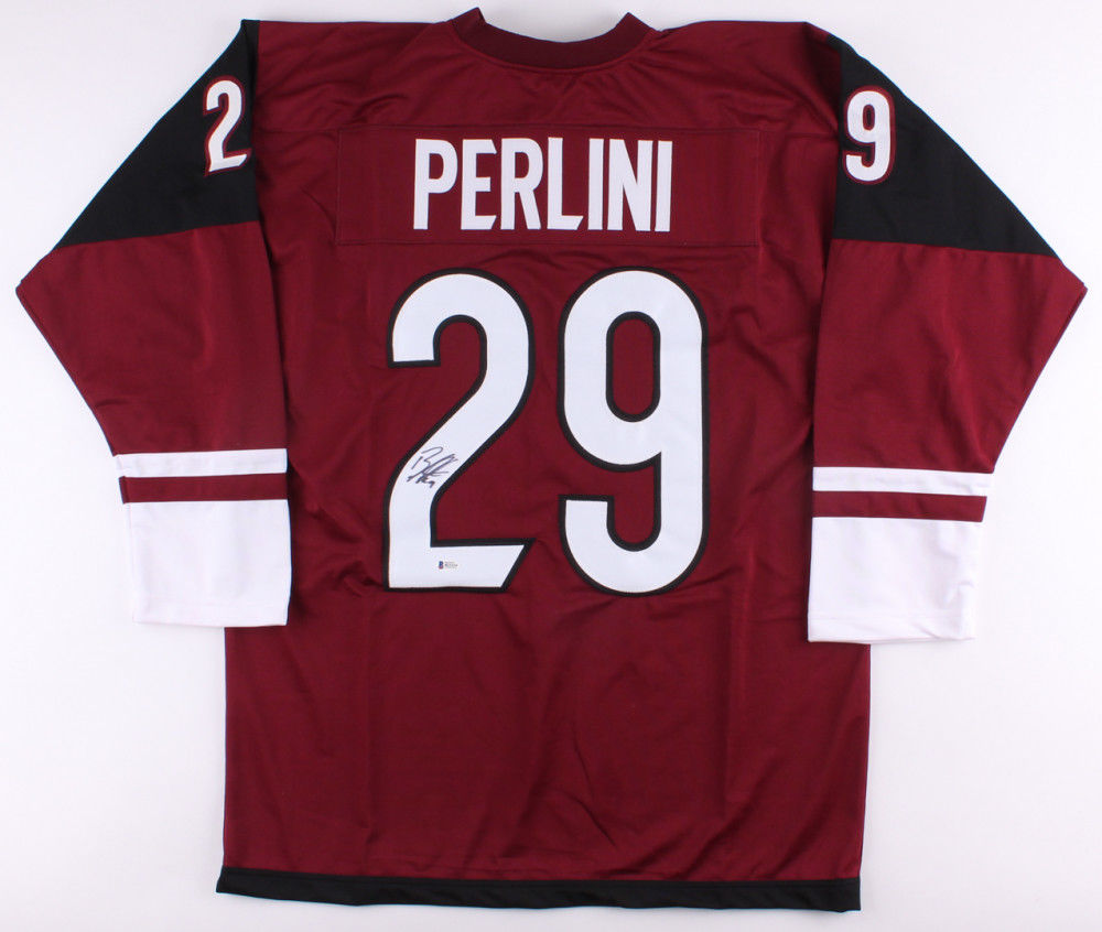 Brendan Perlini Signed Coyotes Jersey (Beckett) 12th Overall Pick 2014 NHL Draft