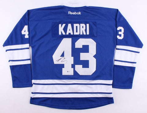 Nazem Kadri Signed Maple Leafs Jersey (Beckett) 7th Overall Pick 2009 NHL Draft