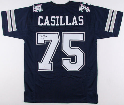 Tony Casillas Signed Cowboys Jersey (JSA) 2×Super Bowl champion (XXVII, XXVIII)