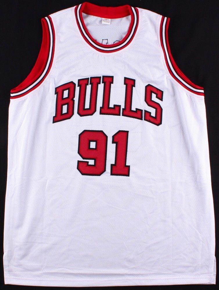 Dennis Rodman Signed Chicago Bulls Jersey / 5x NBA Champion / Mr Rebound / JSA