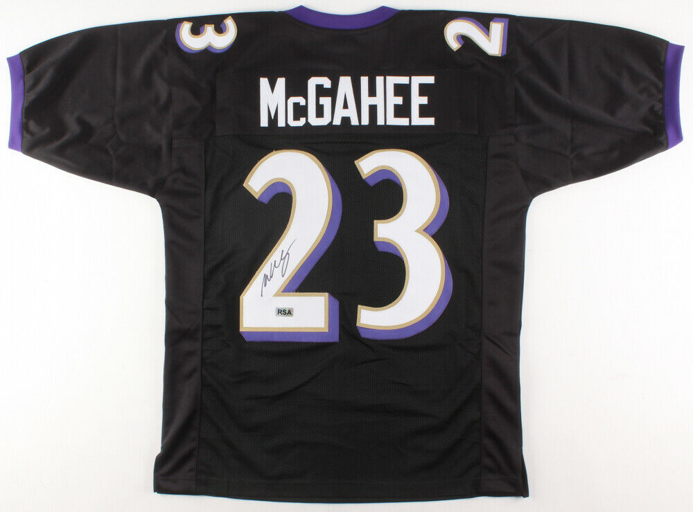 Willis Mcgahee Signed Baltimore Ravens Jersey Rsa Coa 2 Pro Bowl 20 Confinescollectibles Com