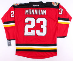 Sean Monahan Signed Flames Jersey (Beckett COA) 6th Overall pick 2013 NHL Draft