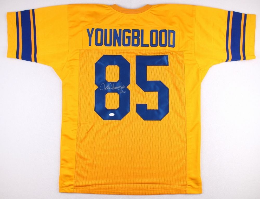 online store b6c8b 00dd3 Jack Youngblood Signed Rams Jersey Inscribed