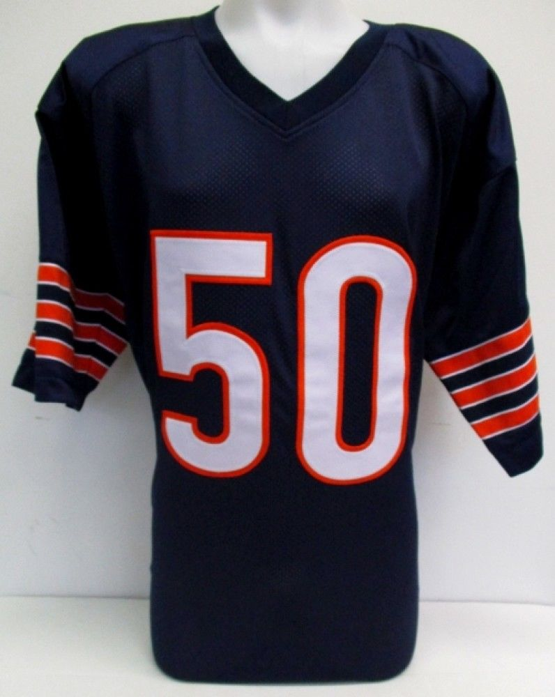 detailed pictures 3ae36 31ea3 Mike Singletary Signed Bears Pro-Style Jersey Inscribed
