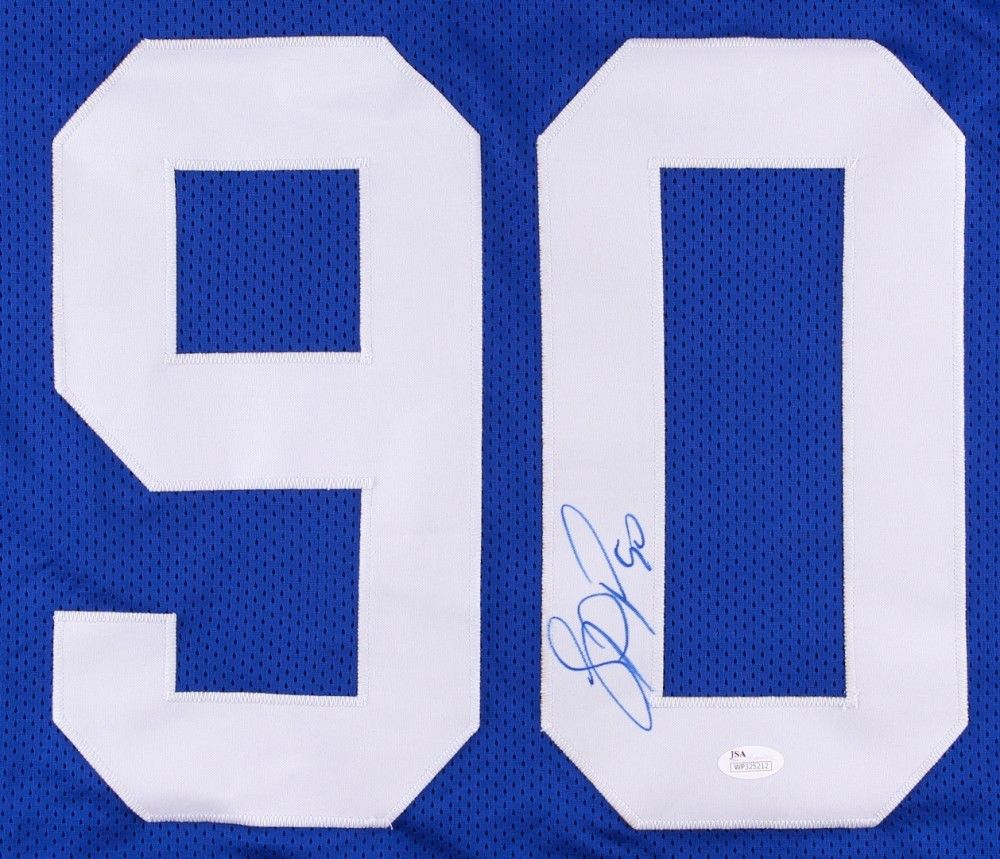 Jason Pierre-Paul Signed Giants Jersey (JSA Hologram) Super Bowl champion (XLVI)