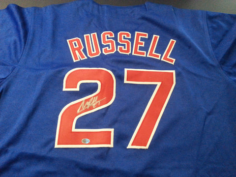 67816a709 Addison Russell Signed Cubs Jersey   World Series Champion (2016) All Star    COA