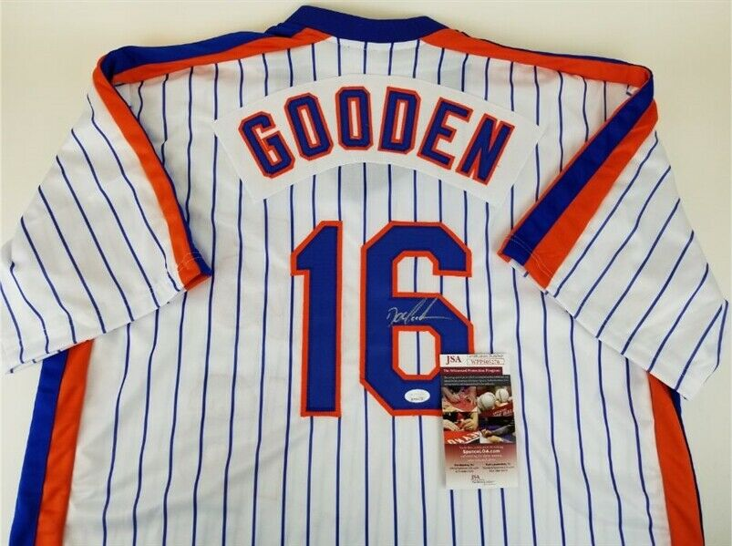 Dwight Gooden Signed New York Mets Jersey (JSA COA) 3xWorld Series Champion