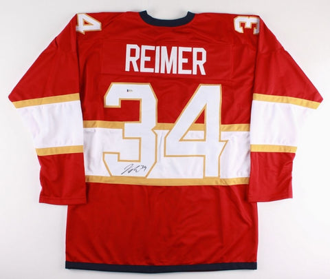 James Reimer Signed Panthers Jersey (Beckett COA) Playing career 2008–present