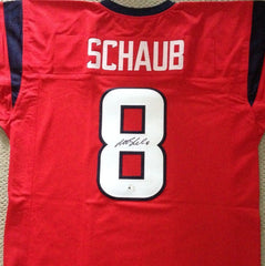 Matt Schaub Signed Houston Texans Red Jersey (JSA COA) Pro Bowl MVP (2009)