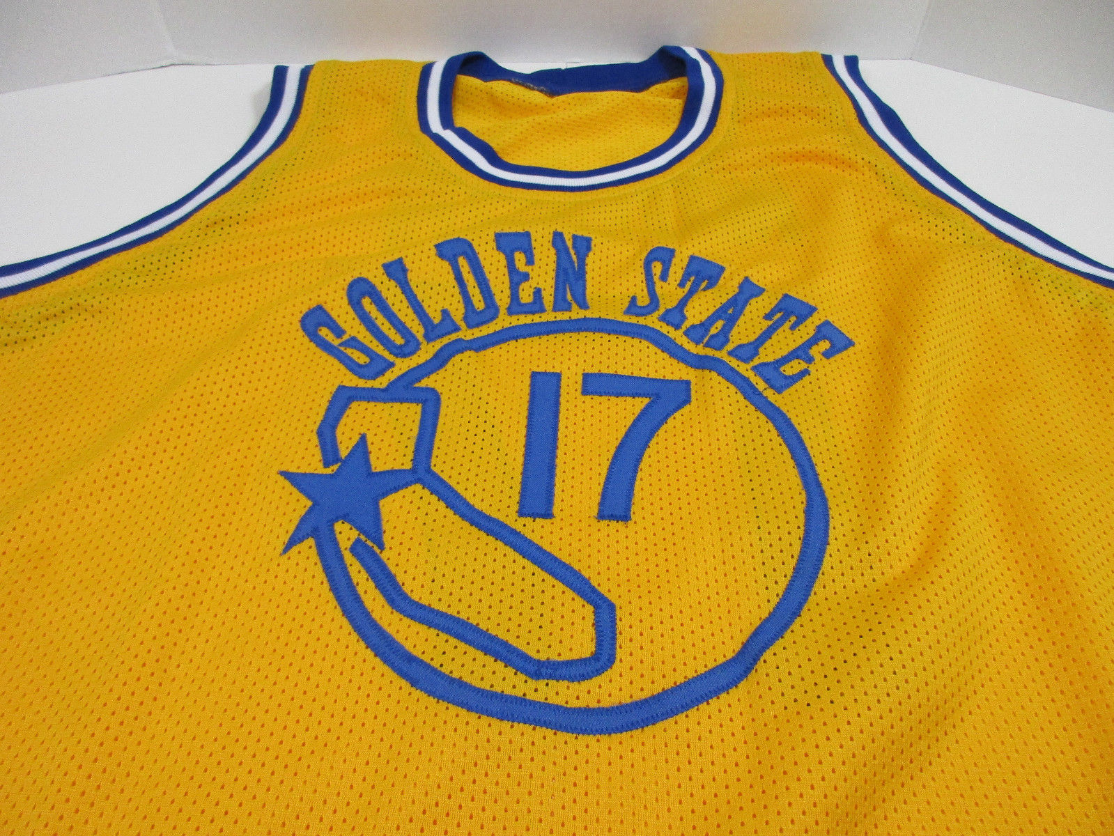 Chris Mullin signed Golden State Warriors jersey / 5× NBA All-Star (1989–1993)