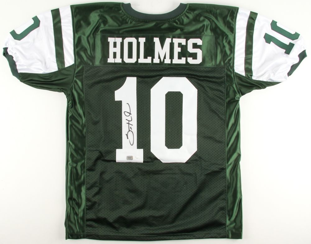 Santonio Holmes Signed Jets Jersey (JSA Hologram & Absolute Authentics COA)