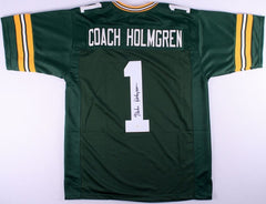Mike Holmgren Signed Green Bay Packers Jersey (JSA COA)