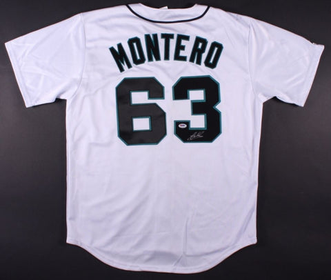 Jesus Montero Signed Mariners Authentic Majestic Jersey (PSA Hologram)