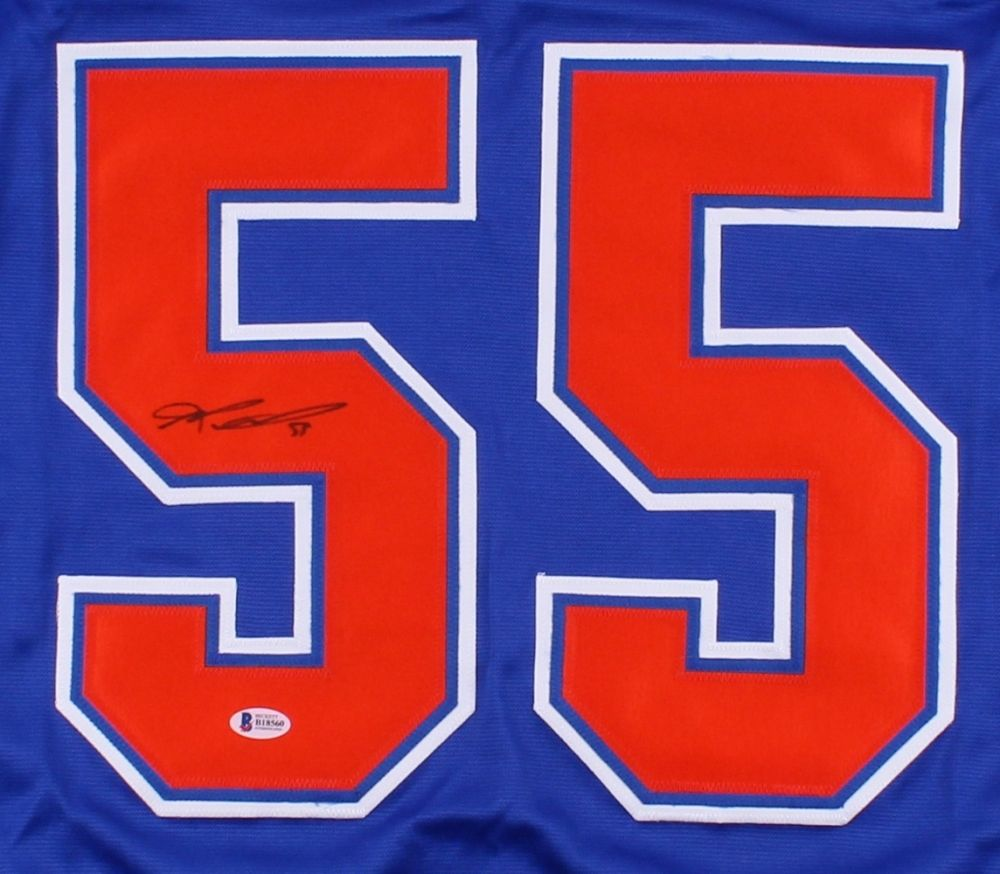 Mark Letestu Signed Edmonton Oilers Jersey (Beckett)