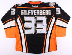Jakob Silfverberg Signed Ducks Jersey (Beckett) 39th Overall pick 2009 NHL Draft