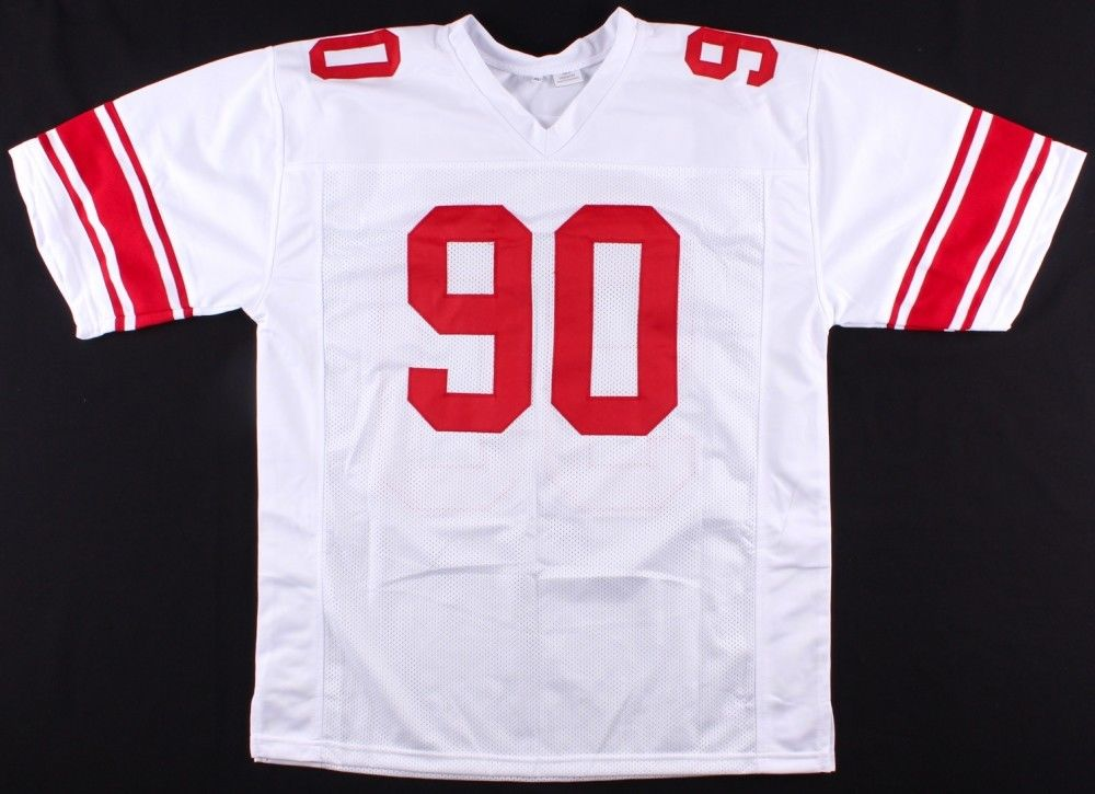 Jason Pierre-Paul Signed White Giants Jersey (JSA) Super Bowl champion (XLVI)