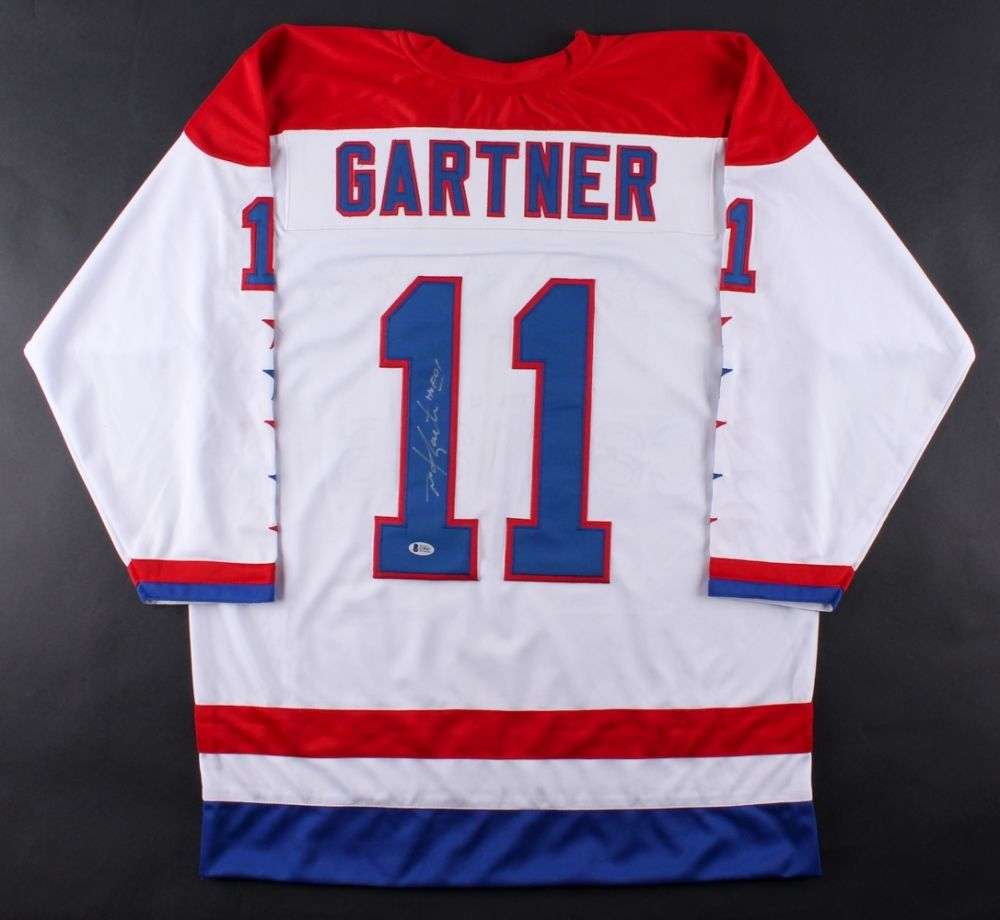 online retailer 72c78 8e7ca Mike Gartner Signed Capitals Jersey Inscribed