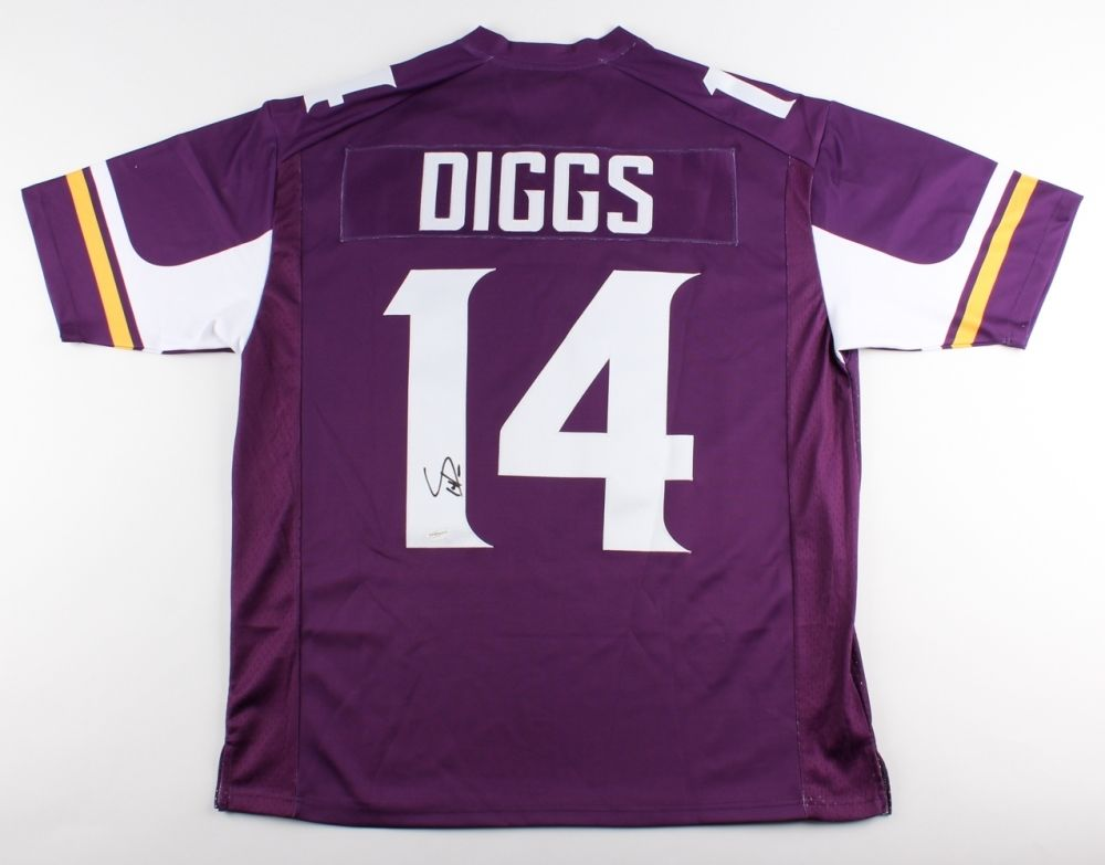 on sale 3602c 0ae52 Stefon Diggs Signed Vikings Jersey (TSE) Minnesota All Pro Wide Receiver