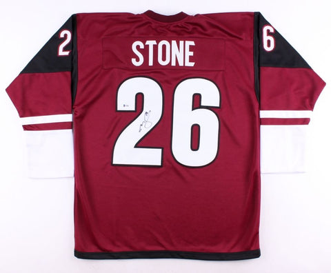 Michael Stone Signed Coyotes Jersey (Beckett) 69th Overall Pick 2008 NHL Draft