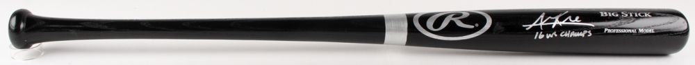 Addison Russell Signed Rawlings Big Stick Game-Used Baseball Bat (JSA COA)