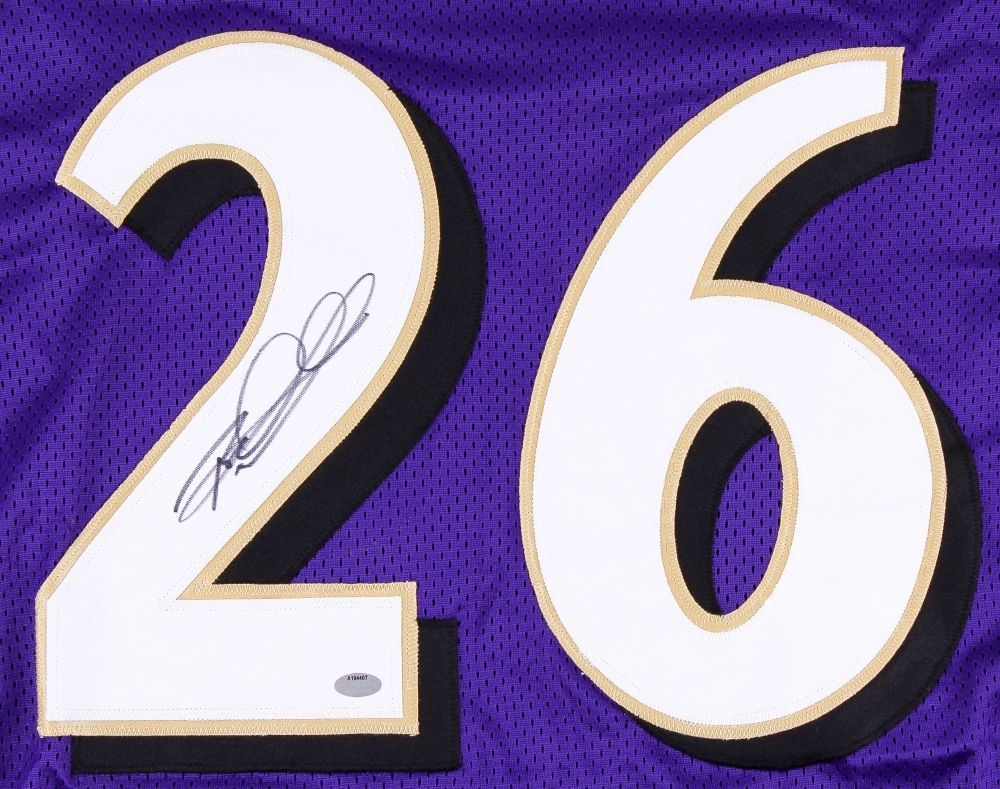 Rod Woodson Signed Baltimore Ravens Jersey (Schwartz COA) H O F Defensive Back