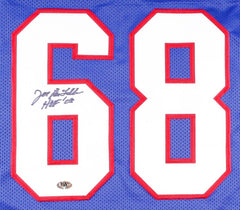 "Joe DeLamielleure Signed Bills Jersey Inscribed ""HOF 03"" (MAB COA)"