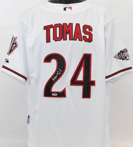 Yasmany Tomas Signed Diamondbacks Jersey (PSA) Arizona Outfielder 2015-Present