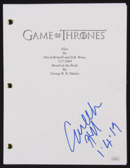 "Conleth Hill Signed ""Game of Thrones: Pilot"" Full Movie Script Inscribed ""1-4-19"