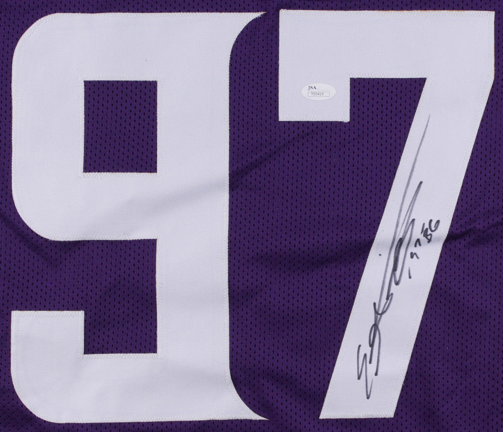 new product a3ff3 0c392 Everson Griffen Signed Vikings Jersey Inscribed