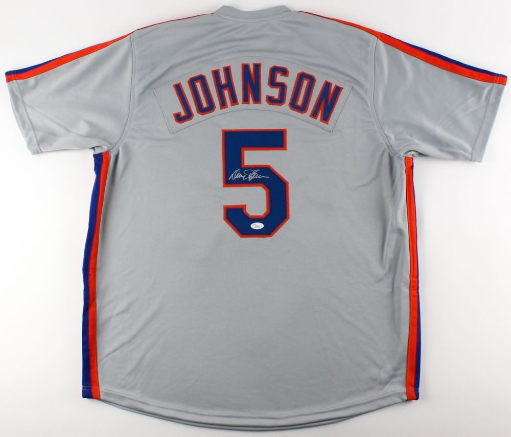 Davey Johnson Signed Mets Jersey (JSA COA) 1986 Mets World Champion Manager !