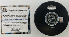 Chris Chelios Signed Blackhawks Logo Hockey Puck Inscibd 11x All-Star (Schwartz)