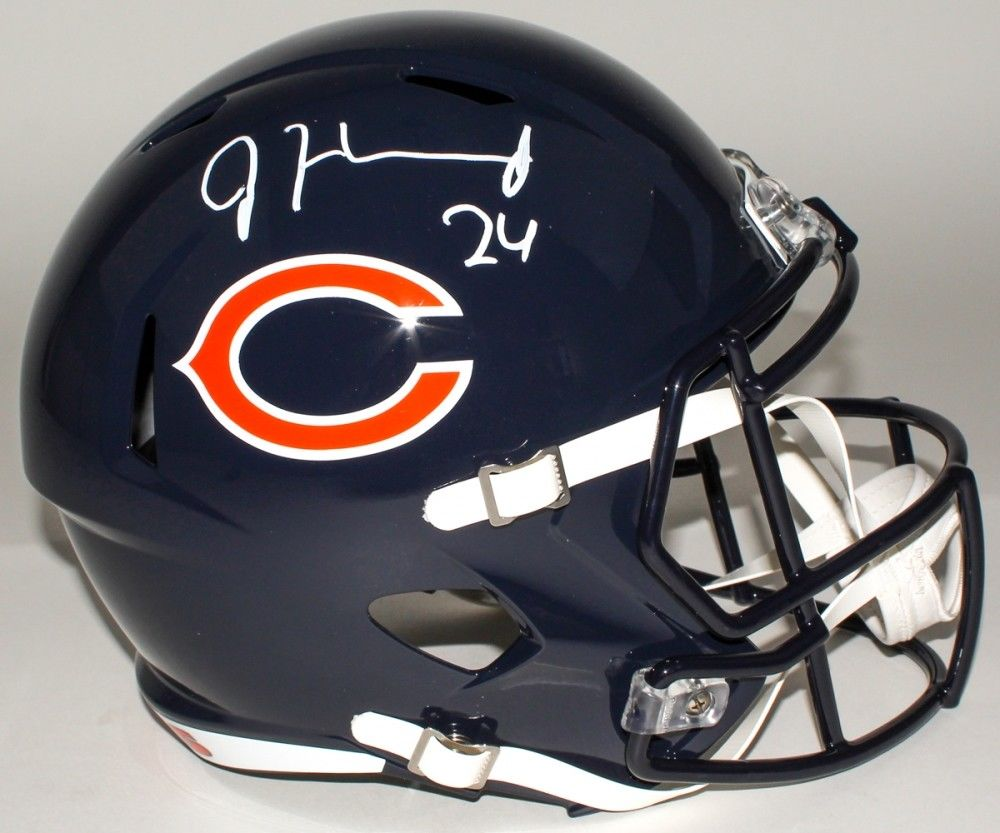 Jordan Howard Signed Bears Full-Size Speed Helmet (JSA COA) Indiana Hoosier R.B.