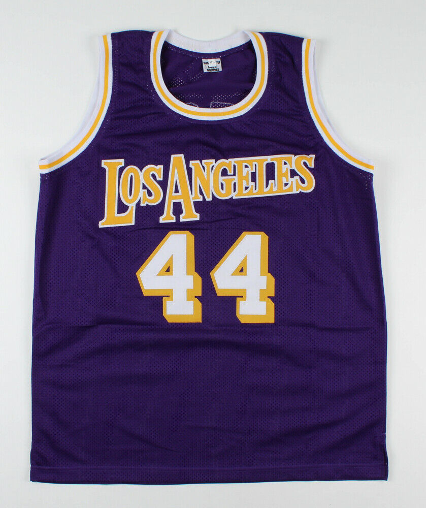 Jerry West Signed Los Angeles Lakers Purple Home Jersey (JSA COA)14×NBA All-Star