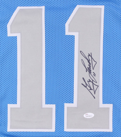 Greg Landry Signed Lions Jersey (JSA) Detroit Starting Quarterback (1968–1978)
