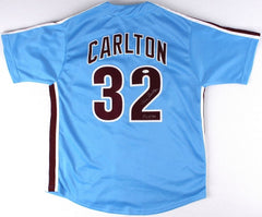 "Steve Carlton Signed Phillies Jersey Inscribed ""HOF 94"" (JSA COA)"
