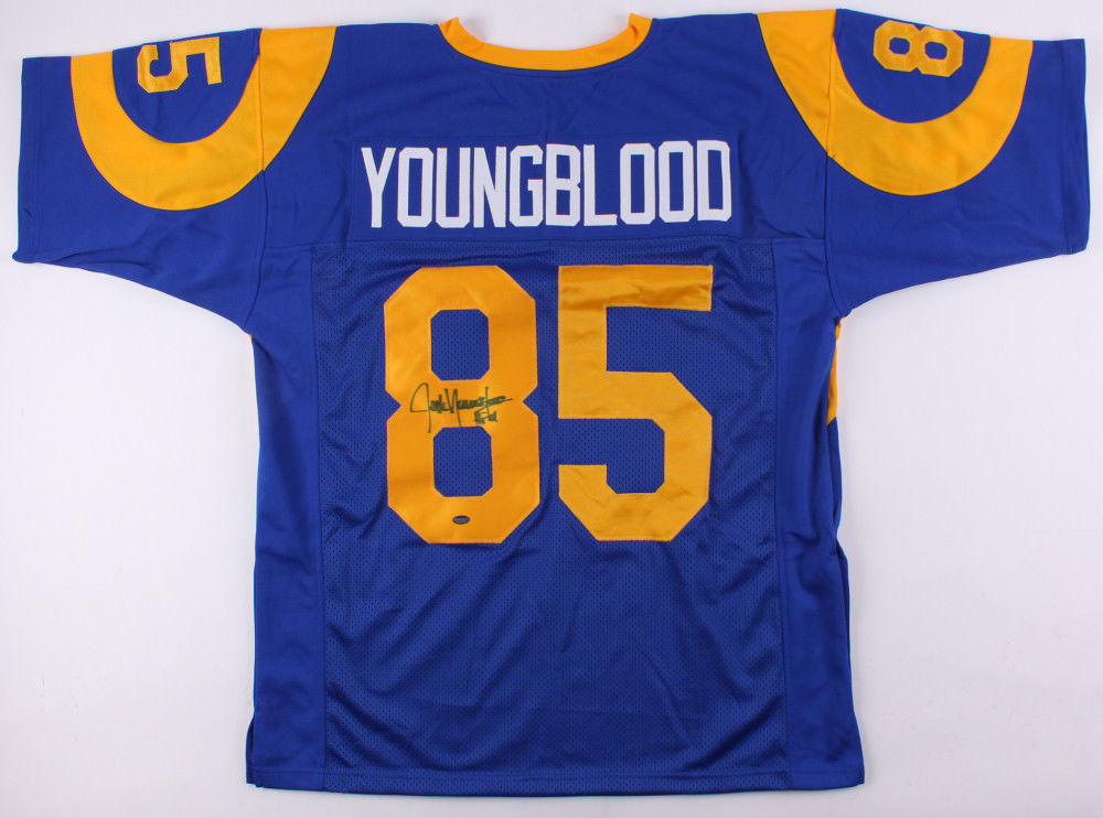 the latest e0f08 2b7a8 Jack Youngblood Signed Custom Los Angeles Rams Jersey (Schwartz) 7× Pro  Bowl D.E