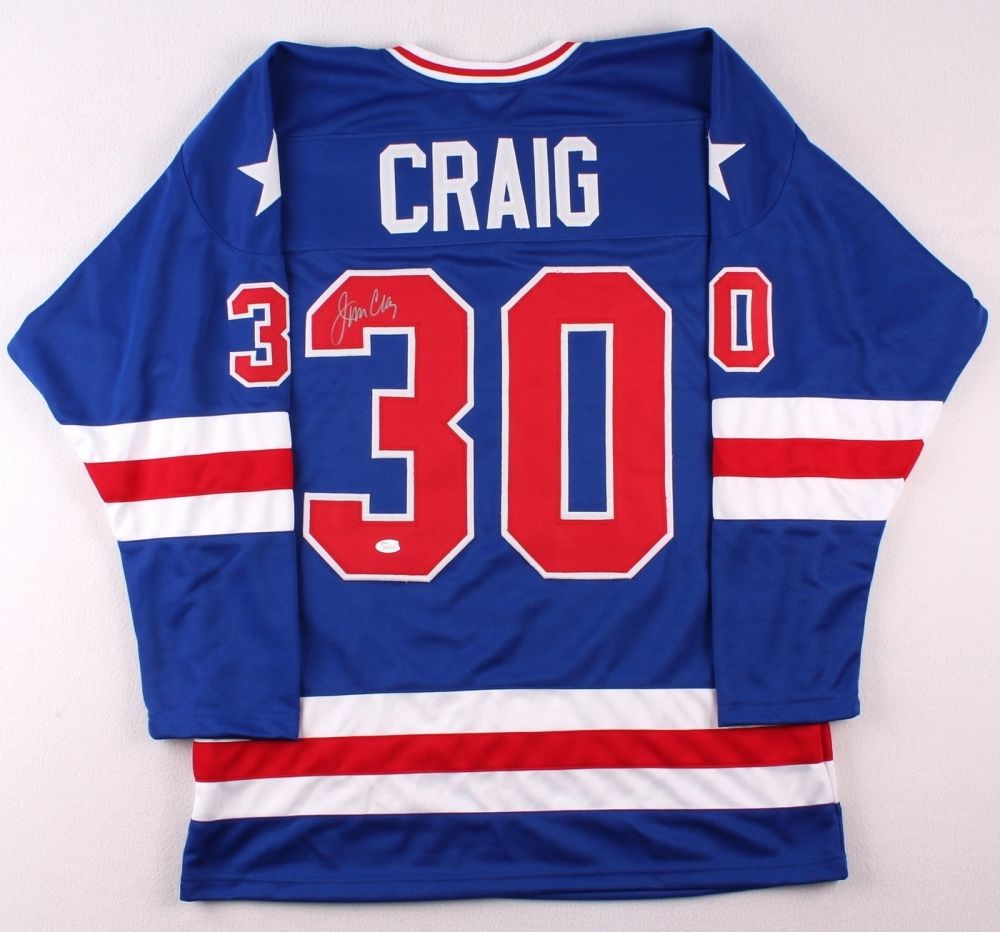 "Jim Craig Signed Team USA ""Miracle on Ice"" Jersey JSA COA 1980 WinterOlympics"