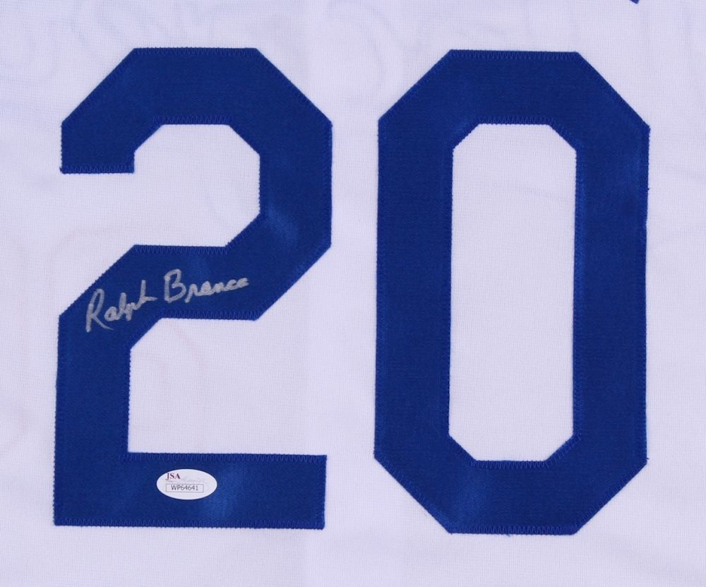 Ralph Branca Signed Dodgers Jersey (JSA) Brooklyn/The Shot heard round the world