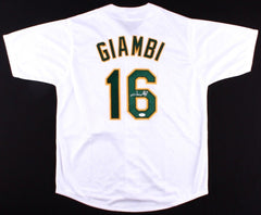 Jason Giambi Signed Athletics Jersey ( JSA COA ) 5×All-Star (2000–2004) 1st Base