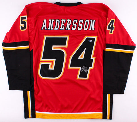 Rasmus Andersson Signed Flames Jersey (Beckett COA) Playing career 2012–present