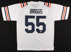 Lance Briggs Signed Chicago Bears White Jersey (JSA COA)7×Pro Bowl(2005–2011) LB