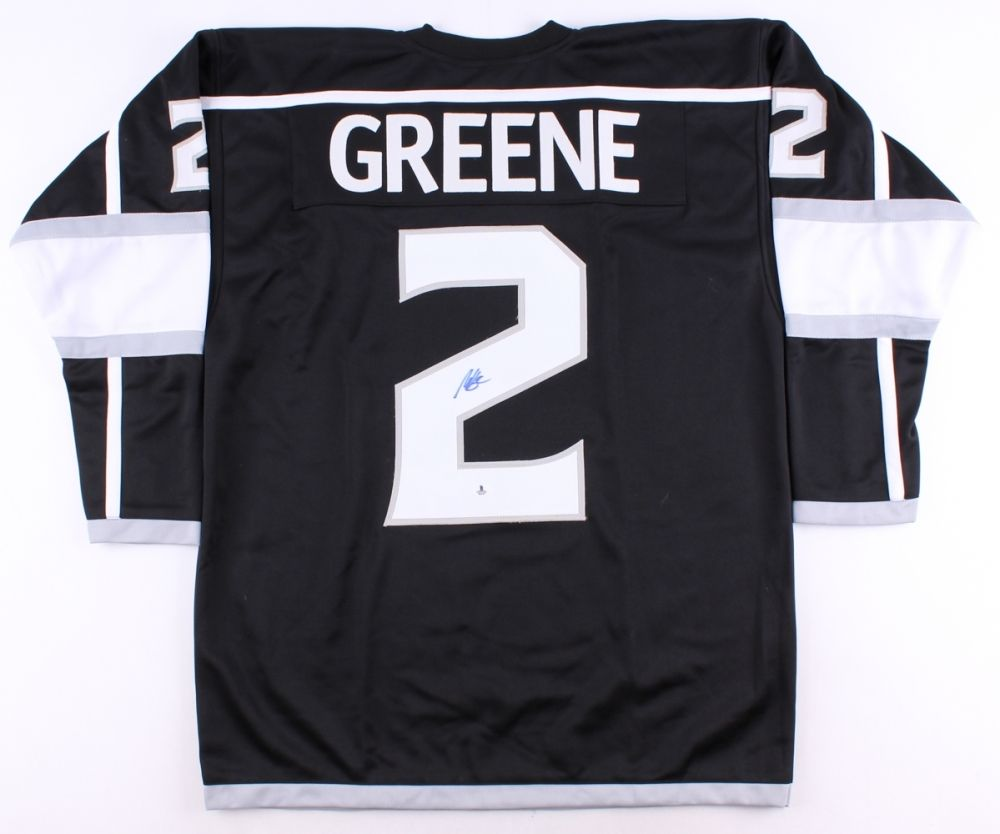 Matt Greene Signed Kings Jersey (Beckett COA) All Star Defenseman