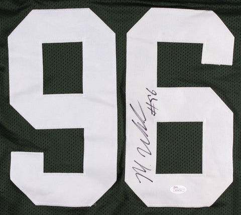 Muhammad Wilkerson Signed New York Jets Green Jersey (JSA) 2015 Pro Bowl