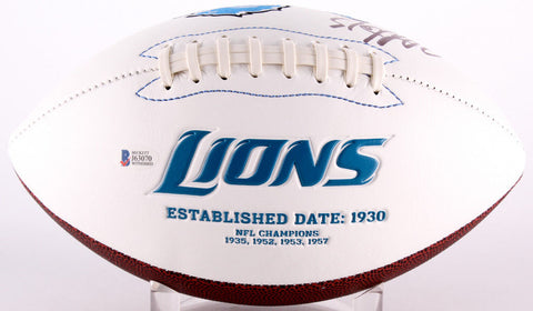 Golden Tate Signed Detroit Lions Logo Football (Beckett Hologram) All Pro W.R