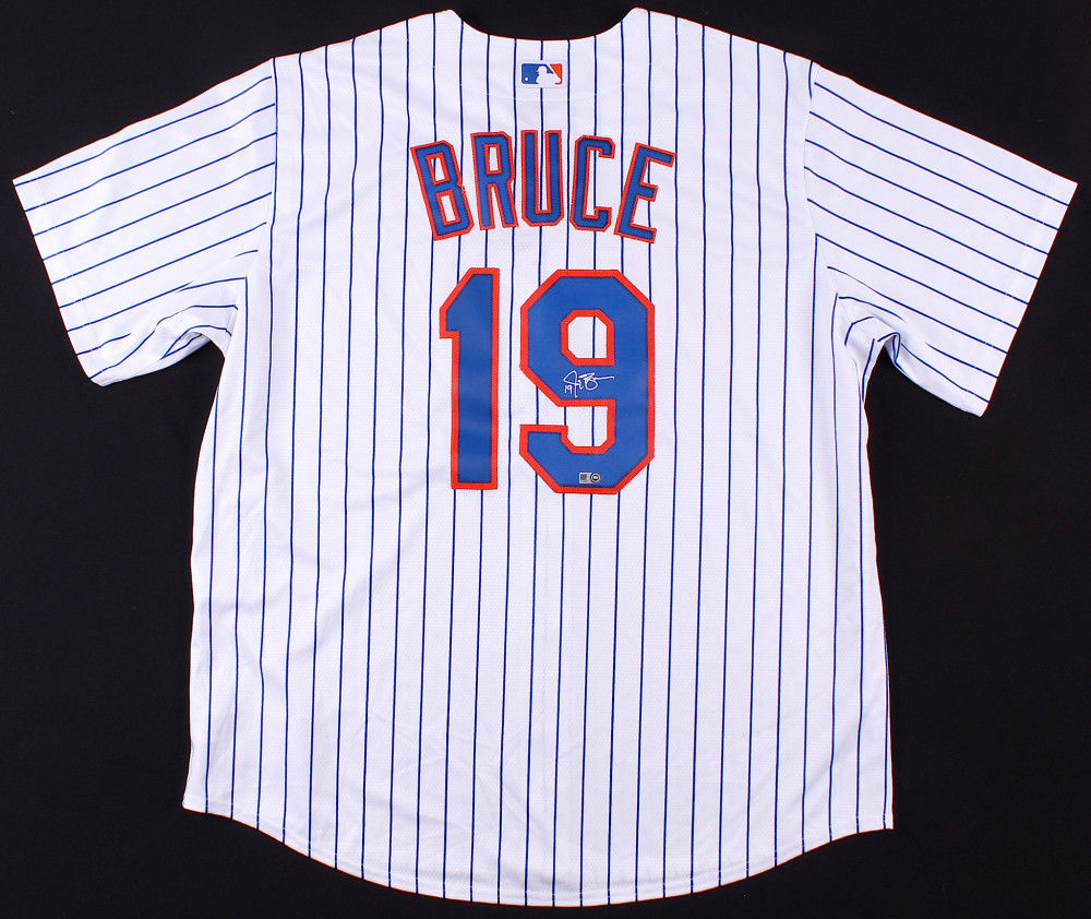 huge discount 1b86d d7555 Jay Bruce Signed Mets Authentic Majestic Jersey (MLB Hologram) 3x All Star